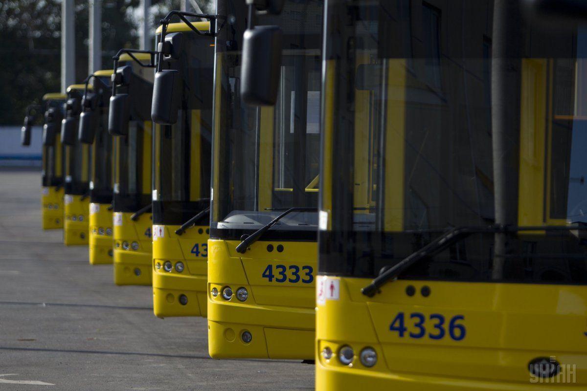 В Киеве временно остановились несколько маршрутов троллейбусов / фото: УНИАН