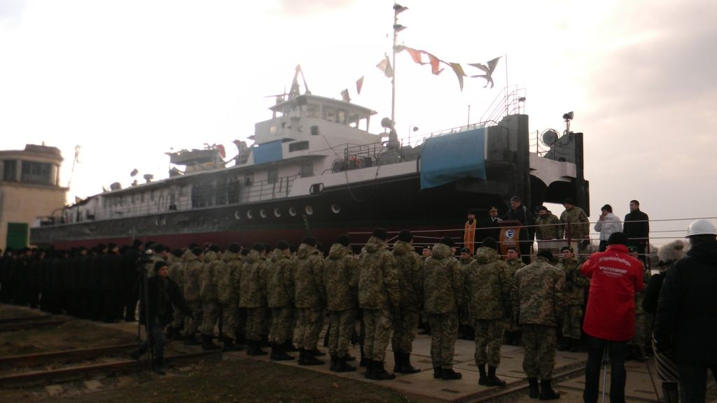 For the first time in Ukraine's history, a civil ship has the name of a hero border guard / dpsu.gov.ua