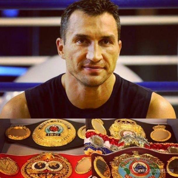Кличко планирует вернуть все свои пояса / klitschko-brothers.com