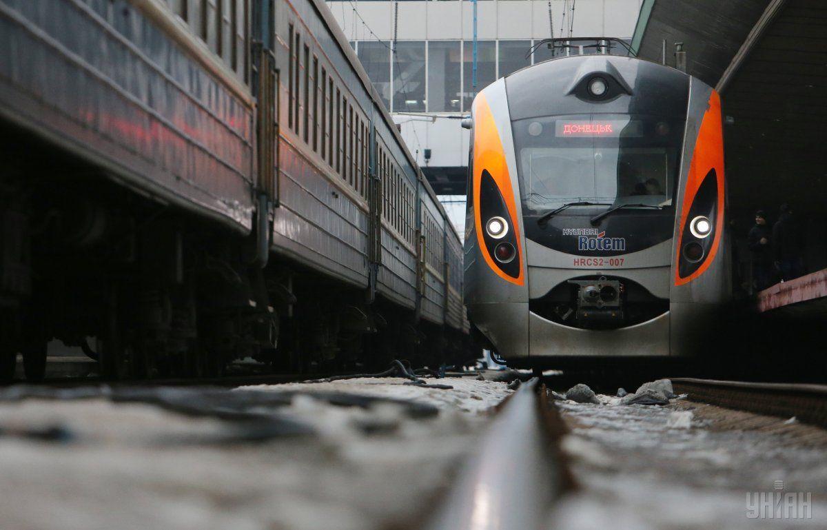 Негода не вплинула на рух поїздів / фото УНІАН