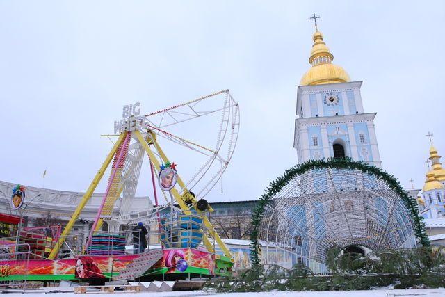 Колесо обозрения в центре Киева / Анатолий Бойко. Сегодня