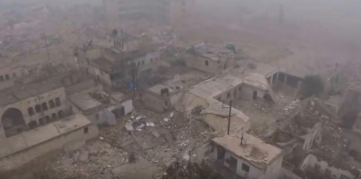 В околицях Алеппо поновилися авіаудари по позиціях повстанців / Скріншот