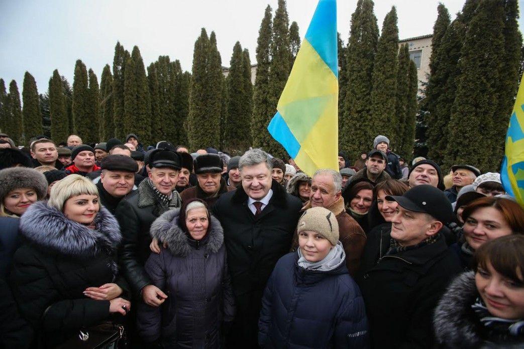 На скільки саме заплановано підняти пенсії, Порошенко не уточнив / president.gov.ua