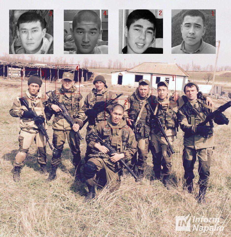 российские солдаты-калмыки