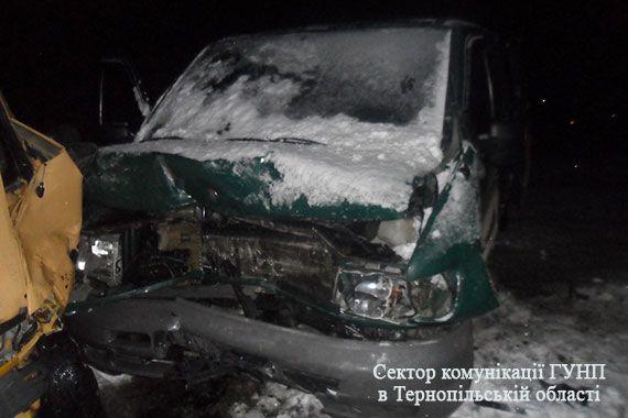 В учасників ДТП діагностовано закриті черепно-мозкові травми, забої м'яких тканин / ГУ НП в Тернопольской области