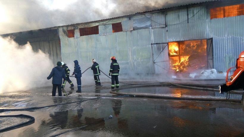 К тушению пожара привлекли 9 единиц техники и 55 спасателей / dsns.gov.ua