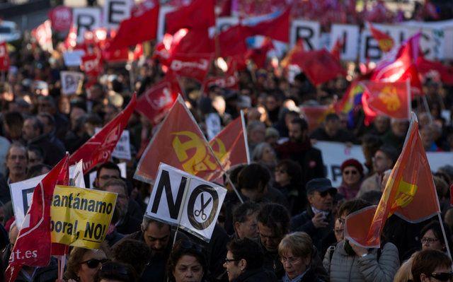 Протест в Мадриде / REUTERS
