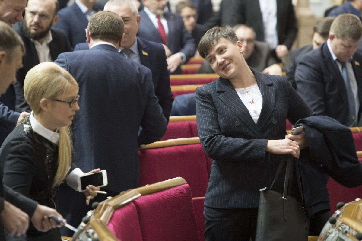 Савченко відправилася у вільне плавання / Фото УНІАН