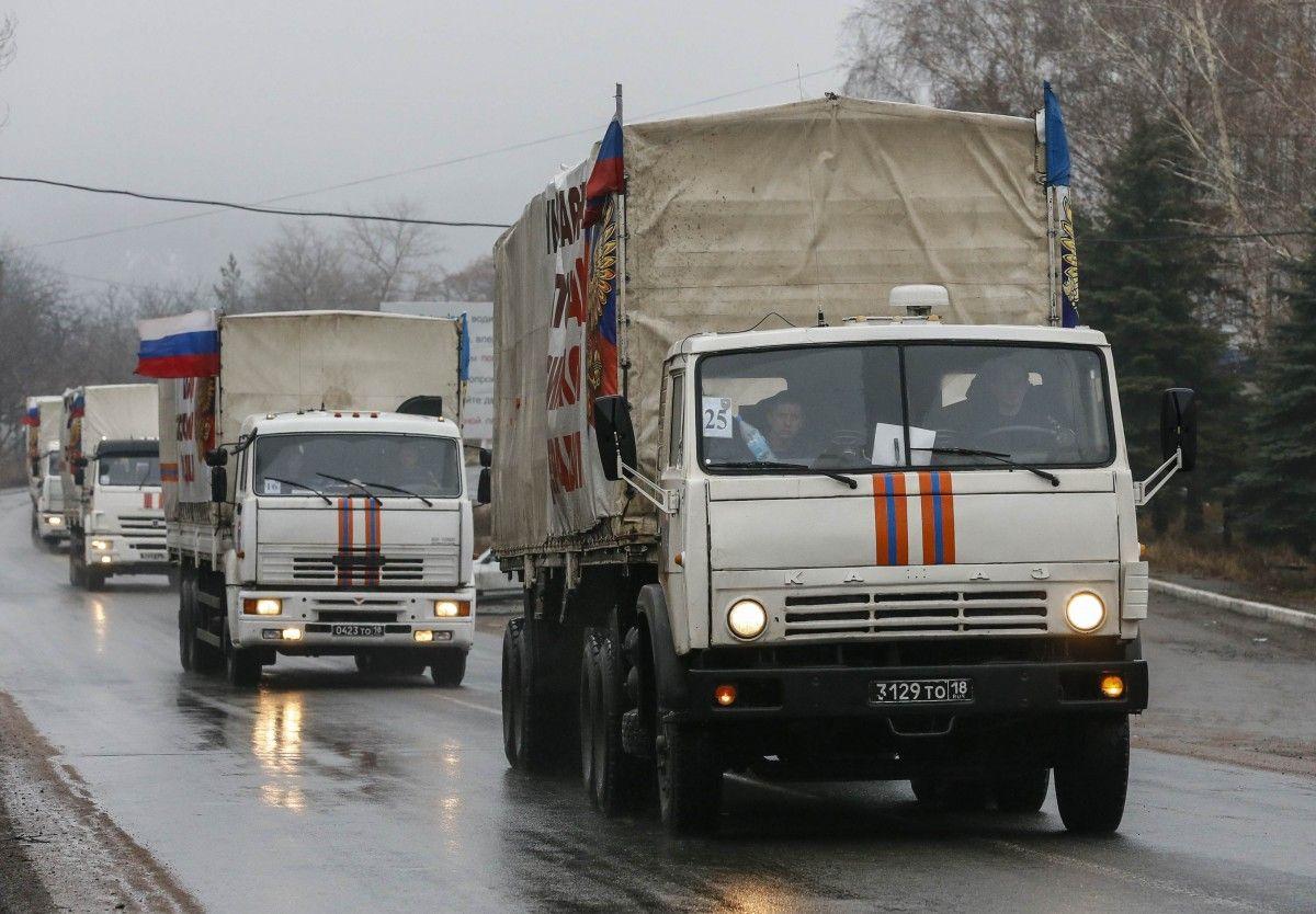 """Росія періодично надсилає в ОРДЛО, за її даними, """"гумконвой"""" / Фото tsn.ua"""