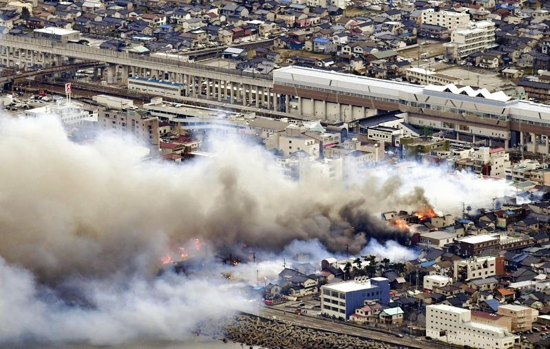 Из-за пожара двое человек получили небольшие травмы / the-japan-news