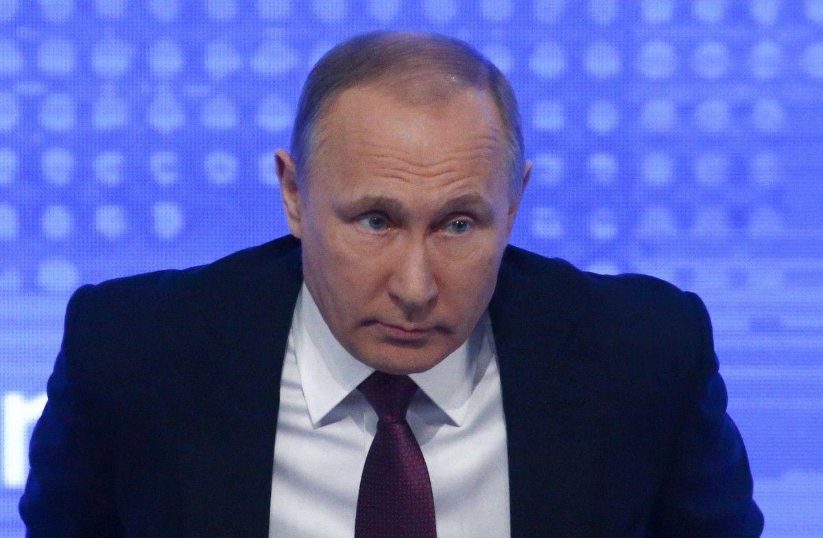Путин на пресс-конференции / Фото REUTERS