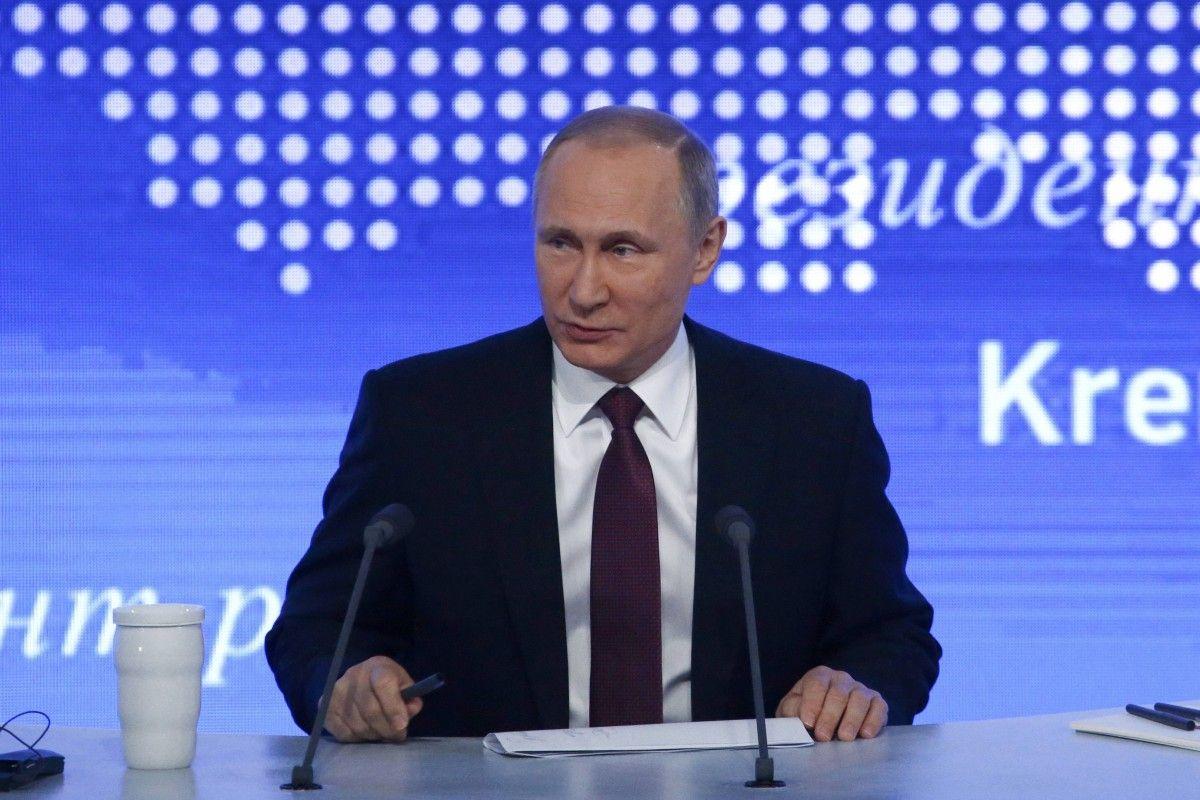 Владимир Путин на пресс-конференции / REUTERS