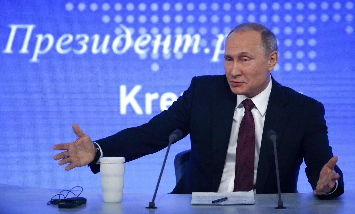 Путін на прес-конференції 23 грудня / Фото REUTERS