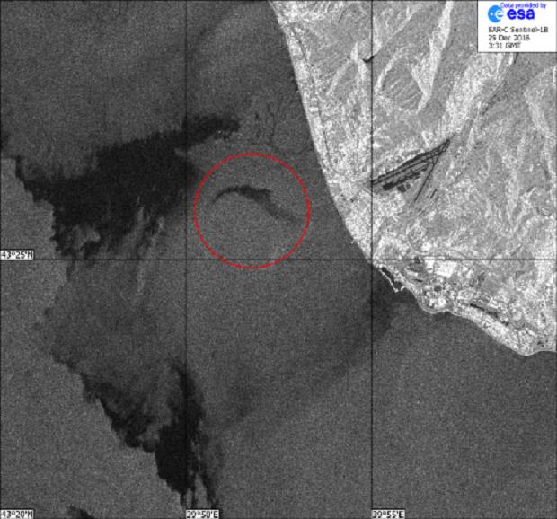 Спутниковый снимок места крушения российского Ту-154 / press.cosmos.ru