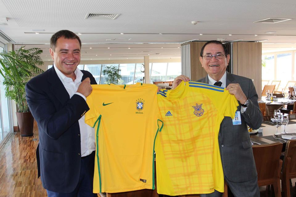 Павелко в офисе Бразильской конфедерации футбола / facebook.com/andriy.pavelko