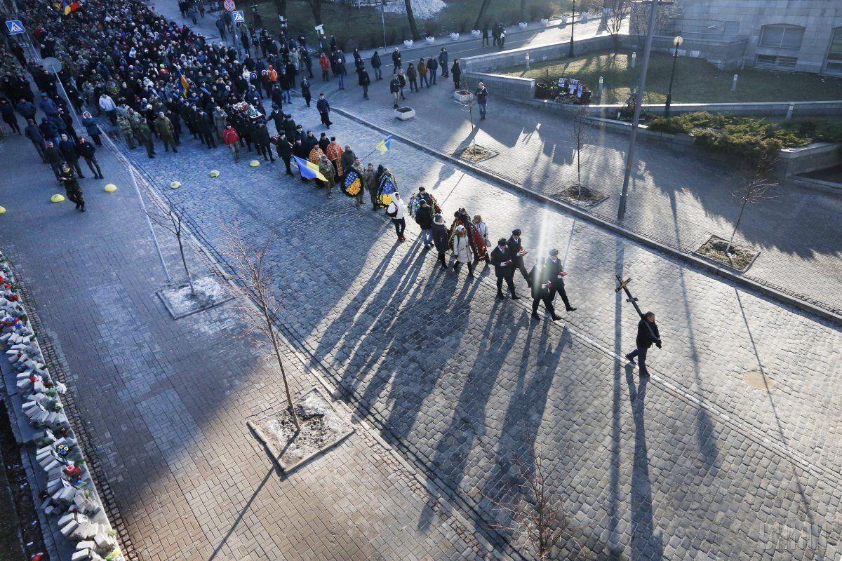 В Киеве попрощались с бойцом с позывным