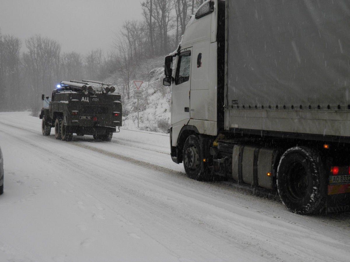 Вантажівкам до вечора заборонено в'їзд до Києва / ГСЧС