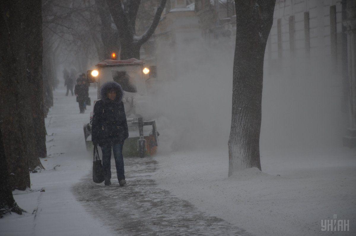 В конце прошлой недели часть каїни накрыли снегопады / УНИАН