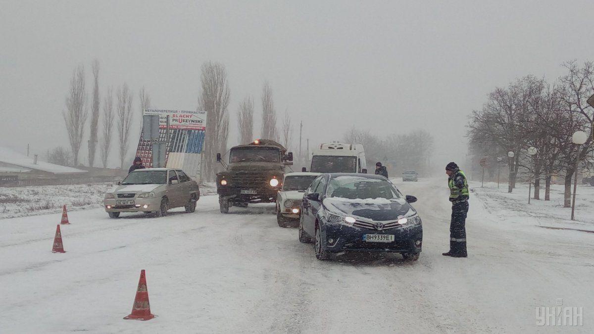 В ГСЧС заявили, что ситуация на дорогах контролируемая / УНИАН
