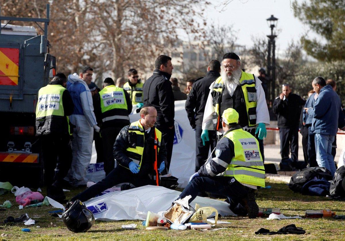 Место теракта в Иерусалиме / REUTERS