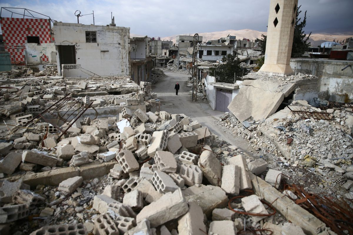 Руины в сирийской Думе / REUTERS