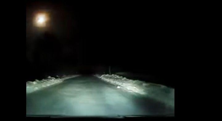 Метеорит пролетів над РФ / Скріншот