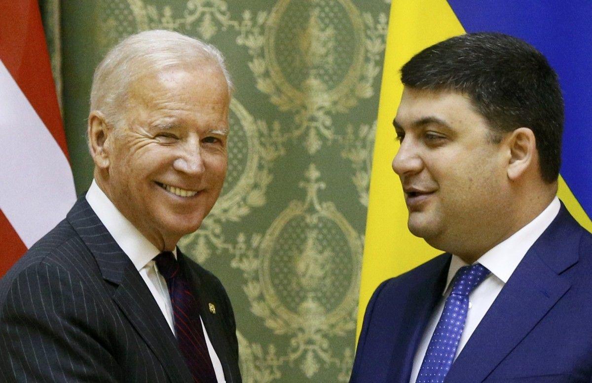 Джо Байден та Володимир Гройсман / REUTERS