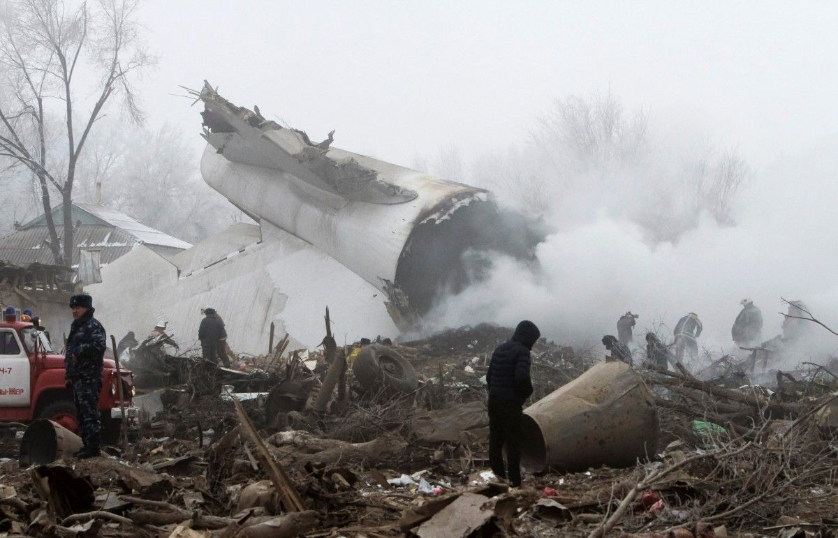 Авиакатастрофа под Бишкеком / REUTERS