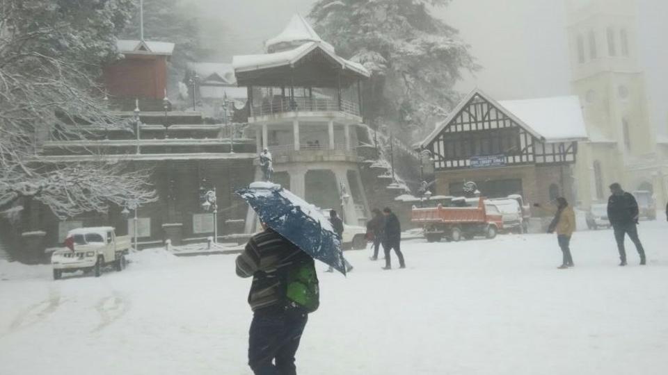 Снігопад у Шимла / hindustantimes.com