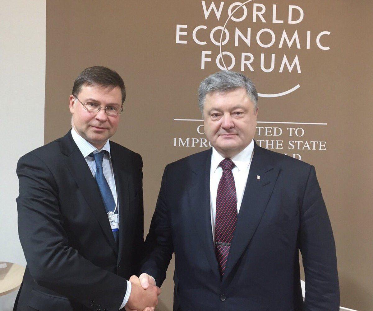 Домбровскис положительно оценил последние шаги Украины, направленные на стабилизацию государственных финансов / Twitter.com/VDombrovskis