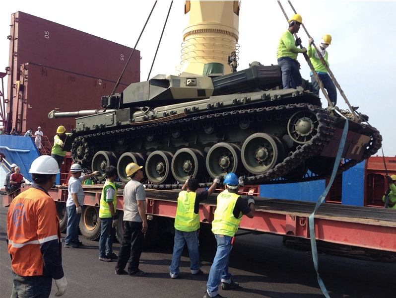 Shipment of an Oplot MBT under the Thai contract / Ukrspecexport photo gallery