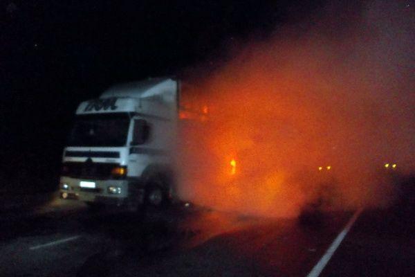 На Тернопільщині згоріла вантажівка / Ракурс