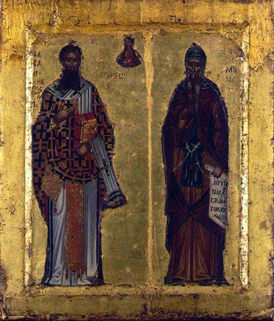 икона святых Саввы и Симеона, алтарь собора Хиландар
