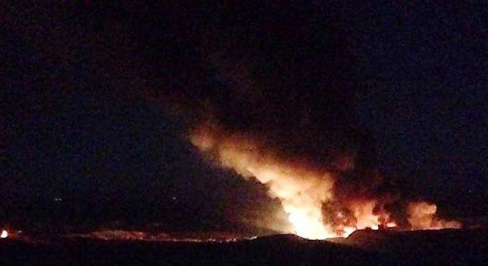 Появилось видео с сирийского аэродрома Меззе после авиаудара