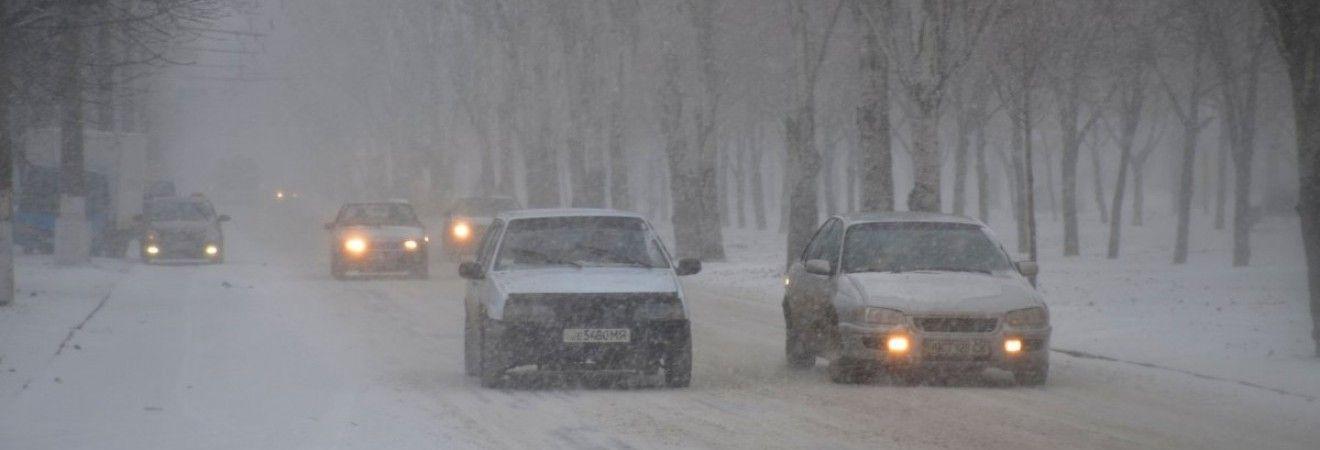 На автодорогах Украины пройдет снег, на востоке температура до +3°