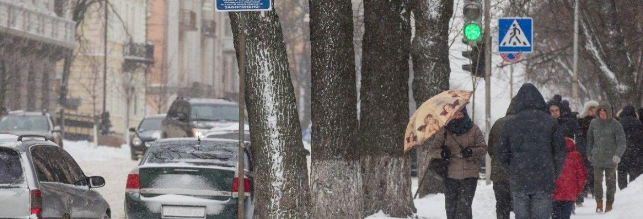 Завтра в Киеве снег, днем до -2°