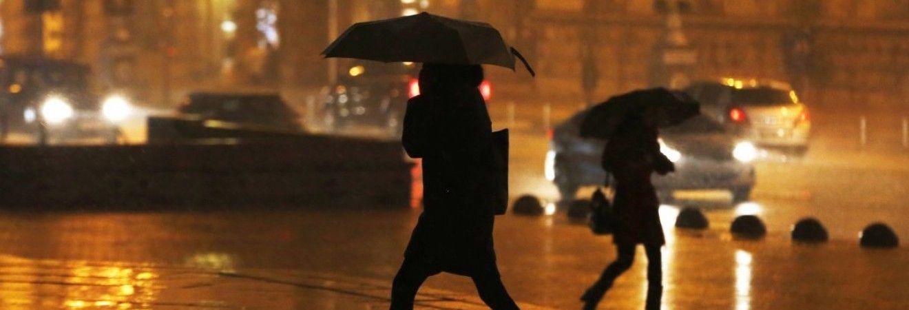 Сегодня Киев накроют дожди с мокрым снегом
