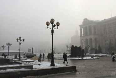 В Киеве сегодня без осадков, днем до -2°