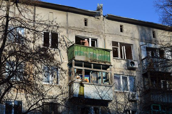 Обстреляны дома в Авдеевке / mvs.gov.ua
