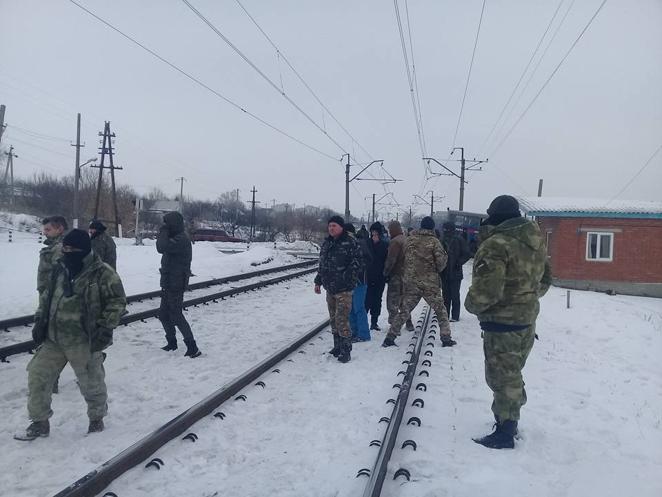 The activists blocked rail tracks toward the occupied territories / facebook.com/shtab.blokady