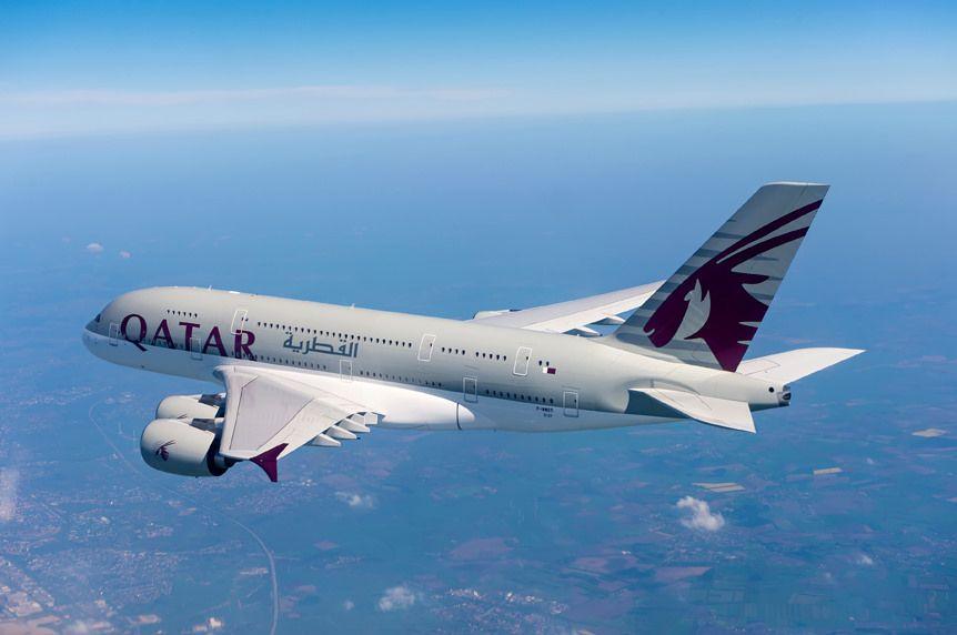 Самолет пересекает 10 часовых поясов / Фото Qatar Airways via flickr.com