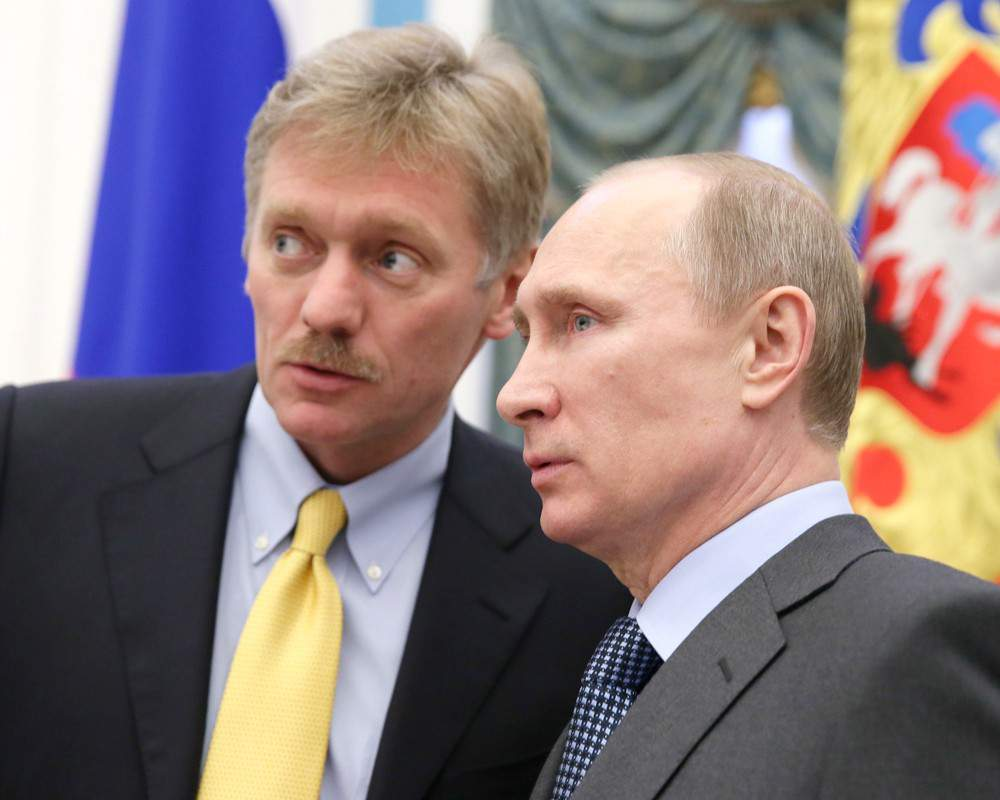 Дмитрий Песков и Владимир Путин / фото Вести.ру