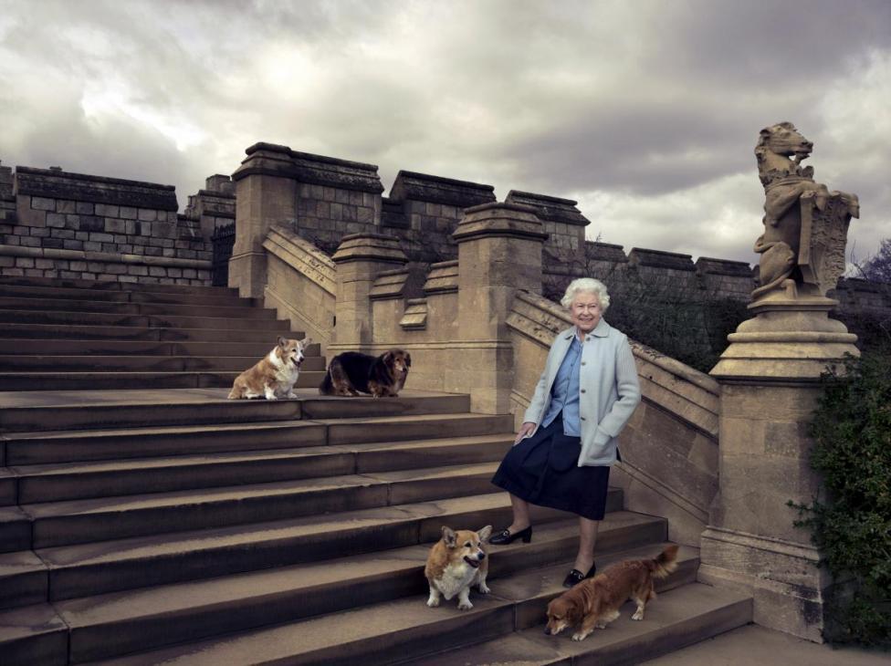 Елизавета II со своими домашними любимцами / фото REUTERS