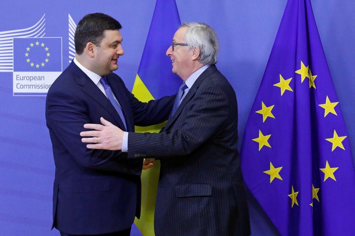 Гройсман та Юнкер в Брюсселі / Ілюстрація REUTERS