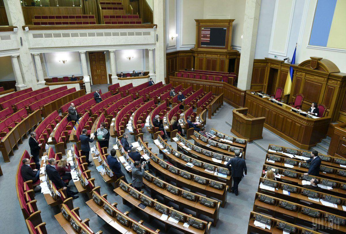 Наприкінці сьогоднішнього засідання у сесійній залі було лише близько 20 депутатів / Фото УНІАН