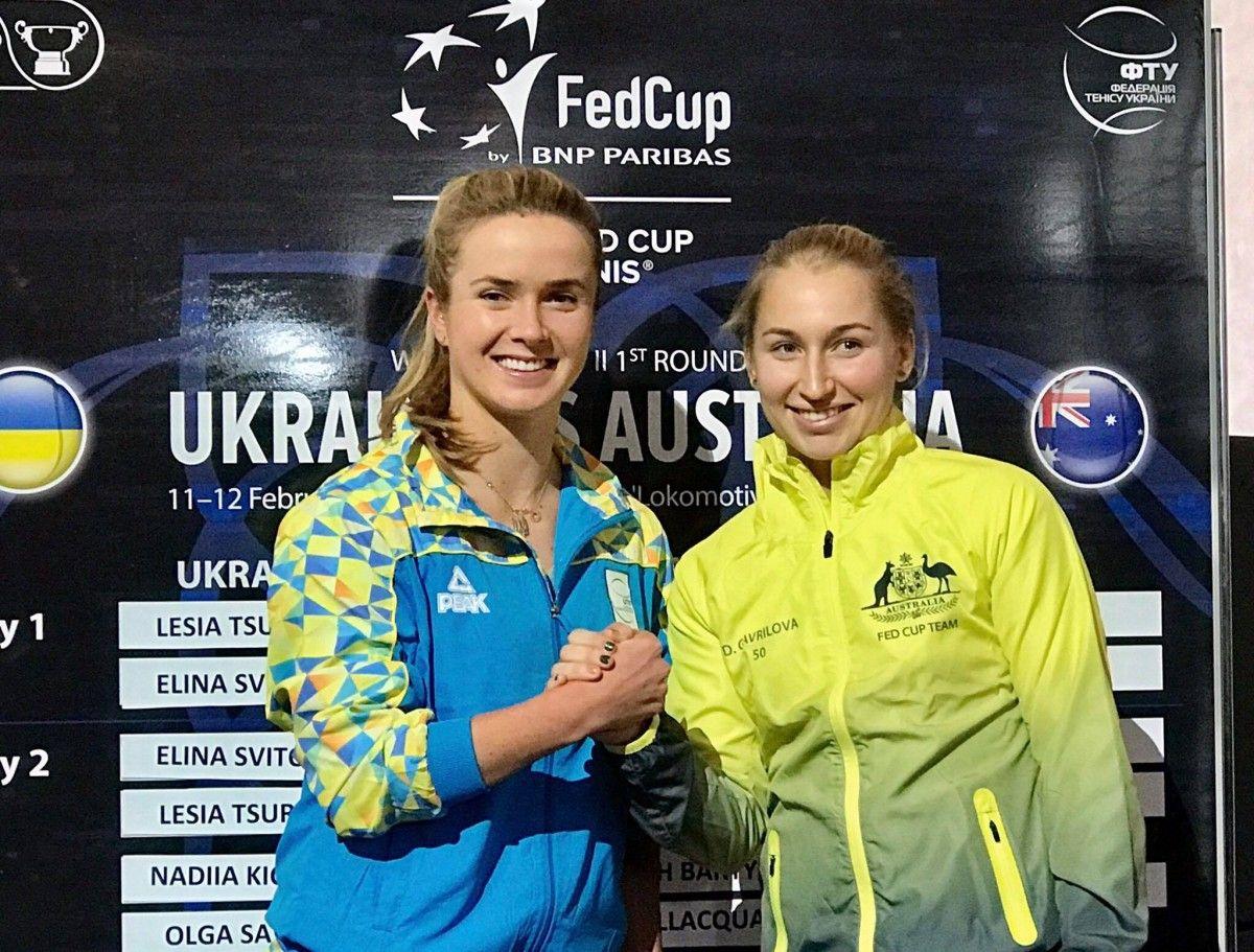 Украинки и австралийки узнали порядок выхода на корт в матче Кубка Федерации / btu.org.ua