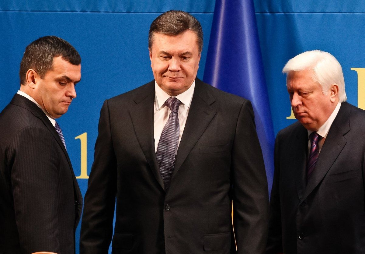Zakharchenko, Yanukovych, Pshonka (from left to right) / Photo from UNIAN