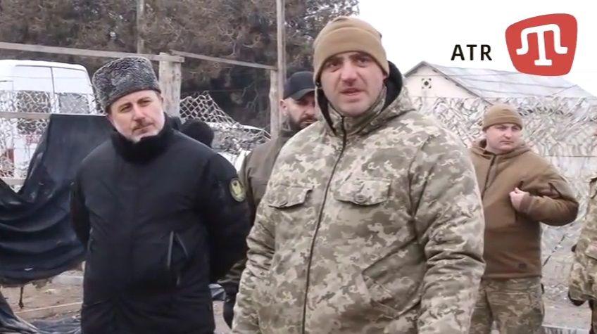 Шпанко извинился за инцидент на базе крымскотатарского батальона / Скриншот