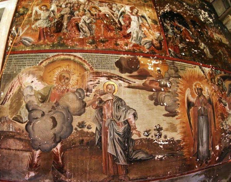 Фрагмент Апокалипсиса. Фреска монастыря Ватопед.