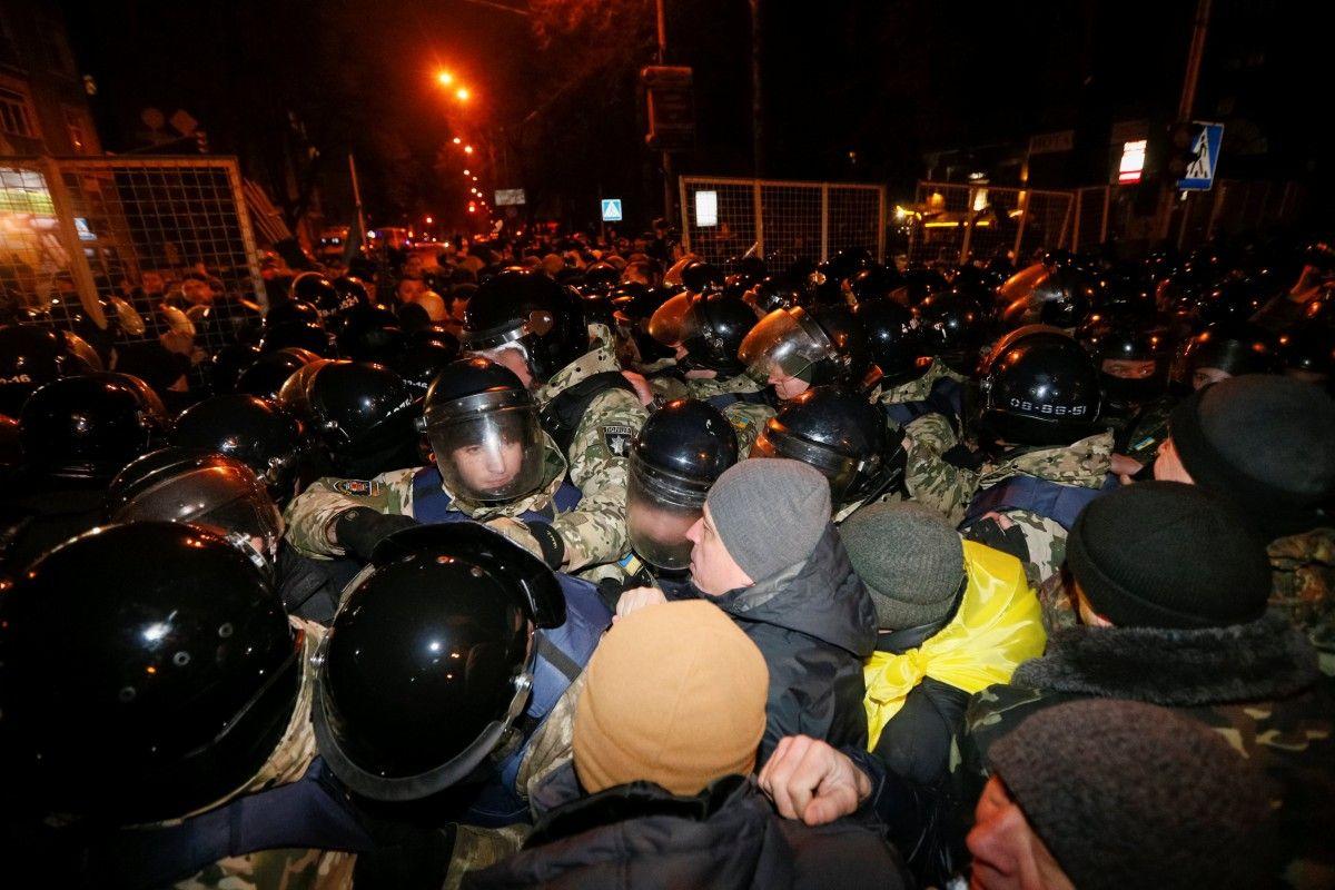 Столкновения в центре Киева 19 февраля 2017 года / Фото REUTERS